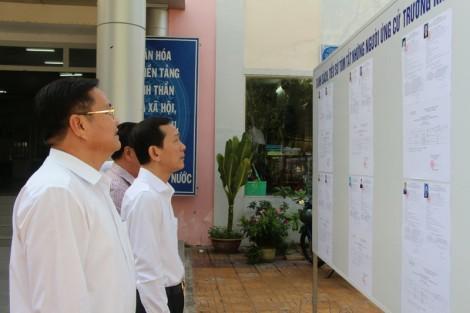 Kiểm tra công tác chuẩn bị bầu cử Trưởng khu vực