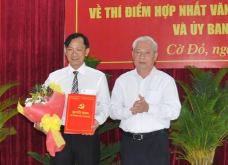 Thí điểm hợp nhất Văn phòng Huyện ủy - HĐND và UBND huyện Cờ Đỏ