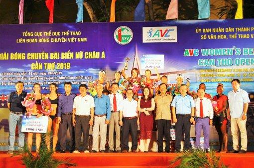 Bế mạc Giải vô địch Bóng chuyền bãi biển nữ châu Á 2019