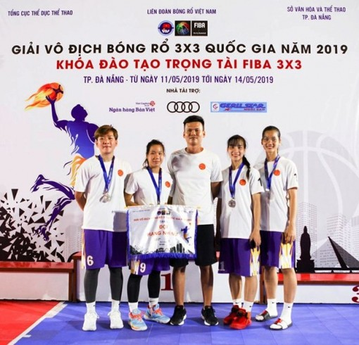 Đội nữ Bóng rổ Cần Thơ đoạt HCB Giải vô địch Bóng rổ 3x3 quốc gia năm 2019