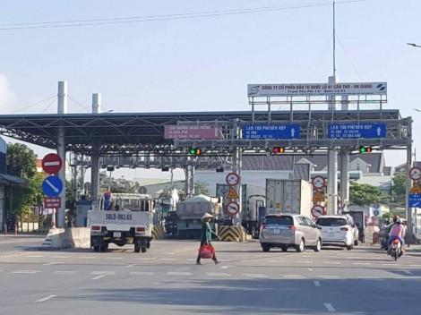 Tạm thời dừng thu phí Trạm T2 quốc lộ 91