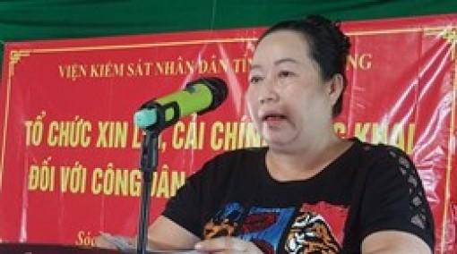 """Viện kiểm sát tỉnh Sóc Trăng xin lỗi công khai """"nữ hoàng lục bình"""""""