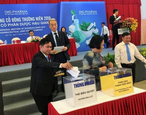 DHG PHARMA bầu hội đồng quản trị nhiệm kỳ IV (2019 -2023)