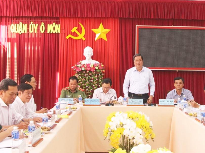 Tập trung lãnh đạo thực hiện đạt  các chỉ tiêu Nghị quyết Đại hội Đảng bộ quận Ô Môn nhiệm kỳ 2015-2020