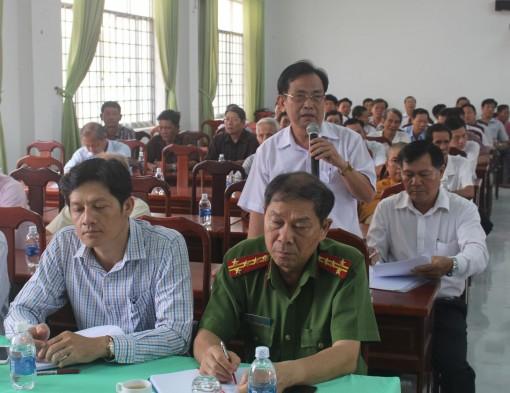 Chủ tịch Ủy ban Trung ương MTTQVN Trần Thanh Mẫn tiếp xúc cử tri quận Thốt Nốt