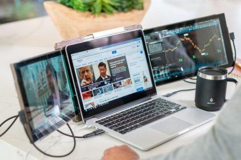 Thêm hai màn hình cho máy tính xách tay