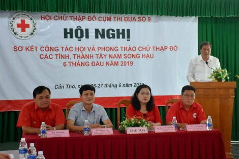 Sơ kết công tác Hội và phong trào Chữ thập đỏ các tỉnh, thành Tây Nam sông Hậu
