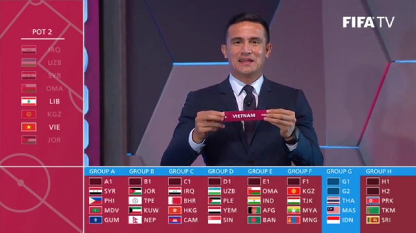Vietnam in same group with regional football power houses