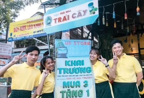 Tiệm trà hoa trái cây thân thiện môi trường đầu tiên tại Cần Thơ