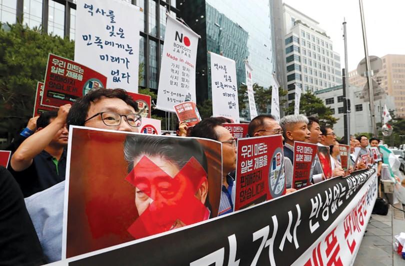 Quá khứ đeo bám quan hệ Nhật-Hàn
