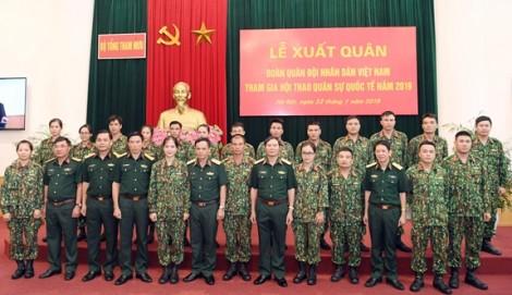 Đoàn Quân đội nhân dân Việt Nam xuất quân tham gia Army Games 2019