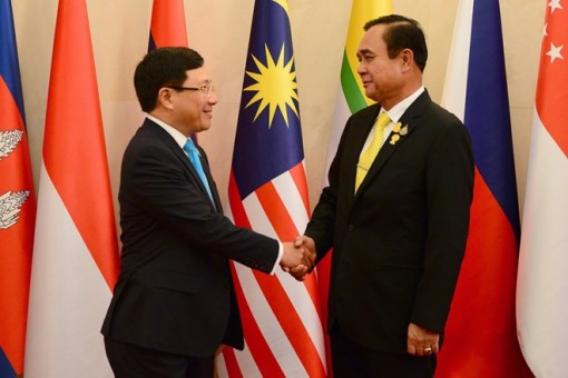 ASEAN foreign ministers pay courtesy call on Thai Prime Minister