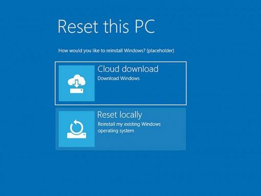 Thực hư việc Microsoft bổ sung tính năng phục hồi qua đám mây trên Windows 10