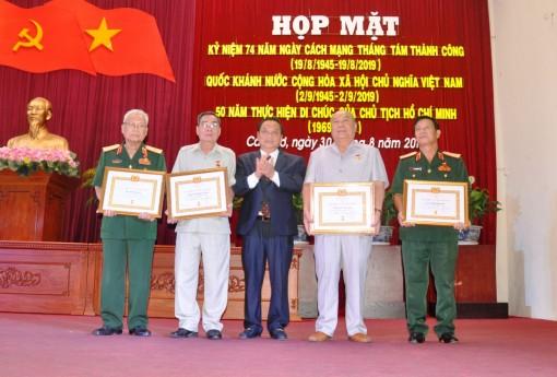 Long trọng tổ chức Kỷ niệm 74 năm Cách Mạng Tháng Tám, Quốc khánh 2-9 và 50 năm thực hiện Di chúc Bác Hồ