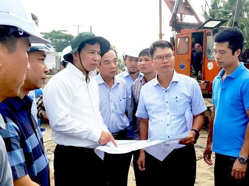 Quyết liệt đẩy nhanh tiến độ thi công  dự án đường tỉnh 922