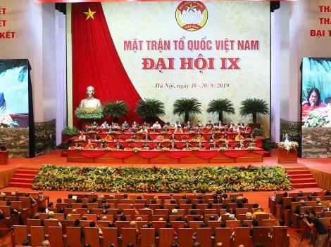 Phiên họp ngày thứ nhất Đại hội đại biểu toàn quốc MTTQ Việt Nam lần thứ IX