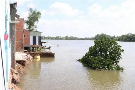 Long An công bố tình trạng khẩn cấp khu vực sạt lở bờ sông Cần Giuộc