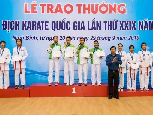 Đoàn võ sĩ Karatedo Cần Thơ  đoạt 2 HCV giải vô địch quốc gia