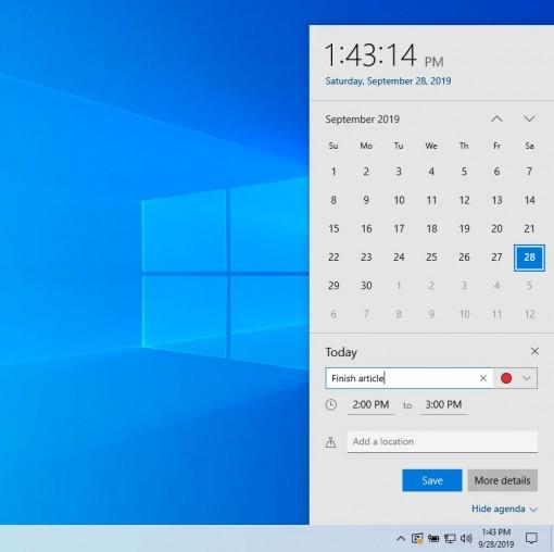 Những tính năng mới trên bản cập nhật Windows 10 1909