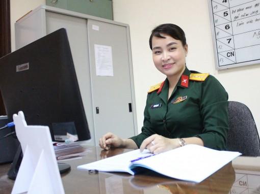 Nữ quân nhân sáng tạo trong công tác Hội