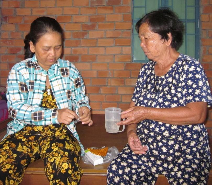 Chị Oanh mong được hỗ trợ trị bệnh