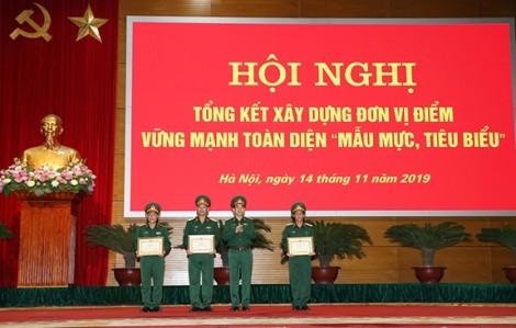 Đại tướng Ngô Xuân Lịch dự và chỉ đạo Hội nghị tổng kết xây dựng đơn vị điểm vững mạnh toàn diện