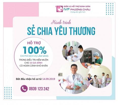 Bệnh viện Quốc tế Phương Châu hỗ trợ 10 gia đình có hoàn cảnh khó khăn điều trị hiếm muộn