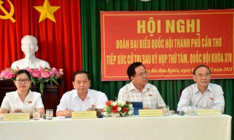 Đoàn Đại biểu Quốc hội đơn vị TP Cần Thơ tiếp xúc cử tri
