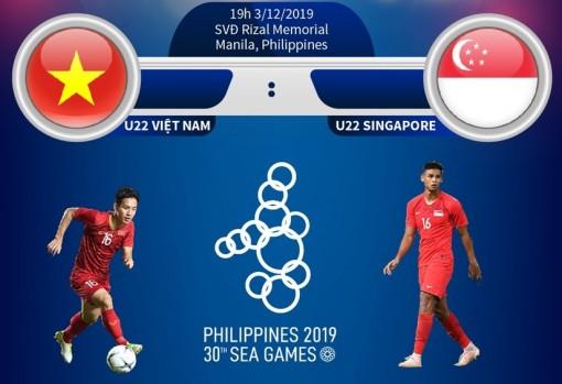 U22 Việt Nam hướng đến chiến thắng trước U22 Singapore