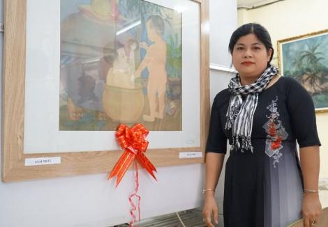 Tác giả Võ Thị Xuân Ca đoạt giải Nhất Cuộc thi Mỹ thuật TP Cần Thơ 2019