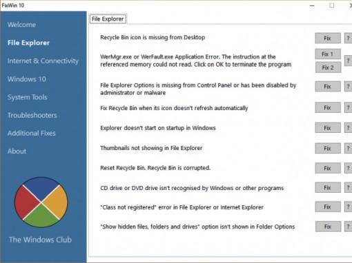 Một số công cụ sửa lỗi Windows 10 miễn phí tốt nhất