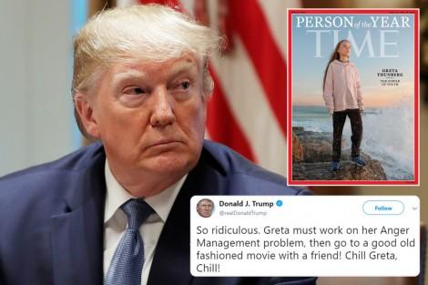 Ông Trump cay cú với Thunberg?
