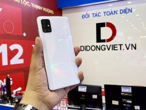 Mua Galaxy A51, màn hình tràn viền pin khủng giá tốt tại Di Động Việt