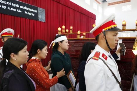 Truy điệu đại úy cảnh sát khu vực hy sinh ngày 30 Tết