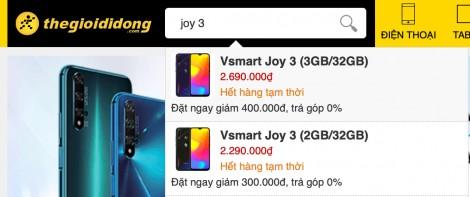 Vsmart Joy 3 xô đổ kỉ lục bán hàng phân khúc dưới 3 triệu đồng