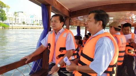 Lãnh đạo thành phố kiểm tra tiến độ thực hiện Kè sông Cần Thơ
