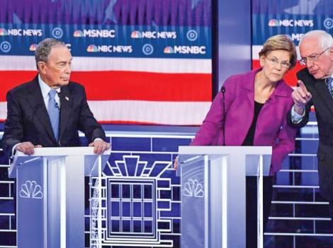"""Các ứng viên Dân chủ  """"đánh hội đồng"""" tỉ phú Bloomberg"""