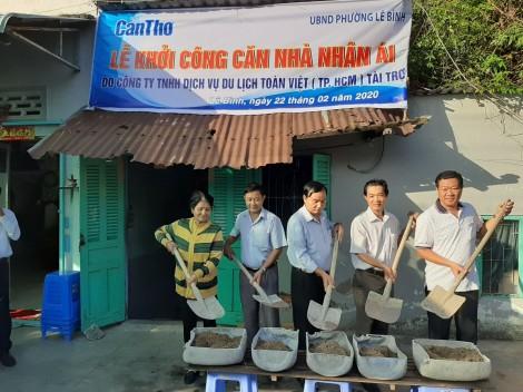 Khởi công Căn nhà nhân ái ở phường Lê Bình, quận Cái Răng