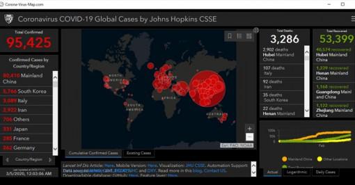 Cảnh giác với 'Bản đồ coronavirus'