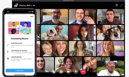 Facebook tung ra công cụ Messenger Rooms cho gọi video nhóm 50 người