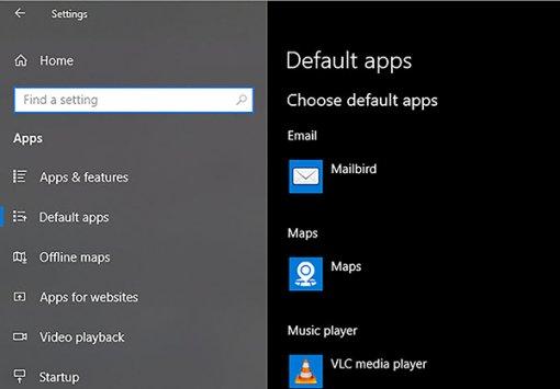 Cách thay đổi ứng dụng mặc định trong Windows 10