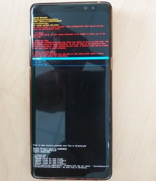 Một số dòng điện thoại Samsung gặp sự cố không khởi động được