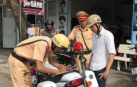 Các lỗi giao thông được nộp phạt tại chỗ