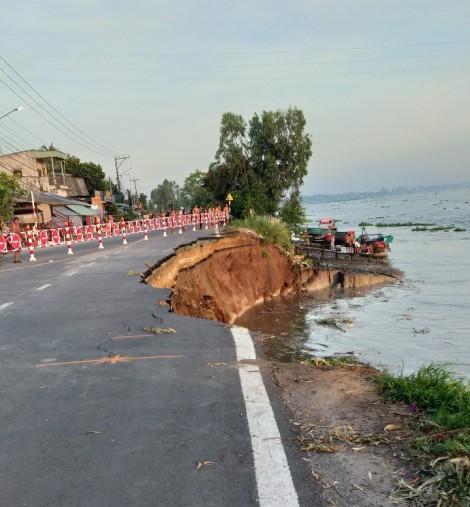 An Giang di dời khẩn cấp 27 hộ dân trong vùng sạt lở nguy hiểm Quốc lộ 91