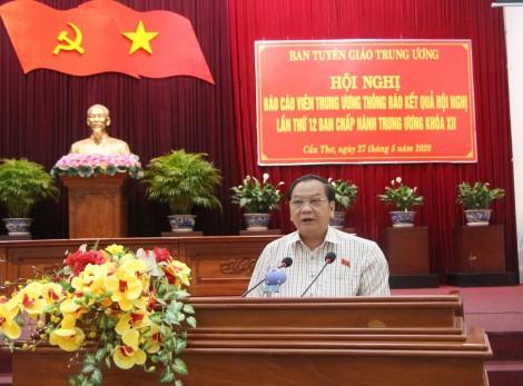 Thông báo kết quả Hội nghị lần thứ 12 của Ban Chấp hành Trung ương Đảng