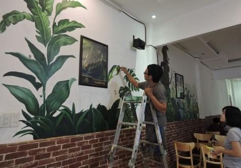 Chàng trai mê vẽ tranh tường