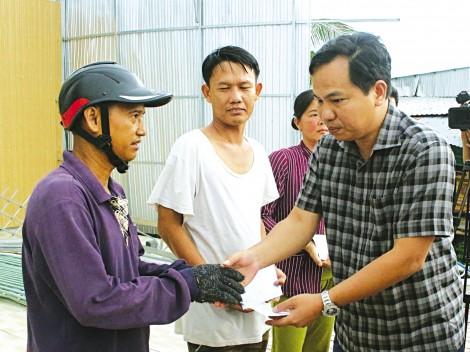 Thăm hỏi, động viên và hỗ trợ  người dân bị ảnh hưởng thiên tai