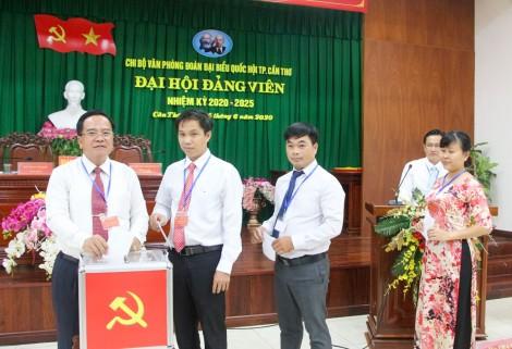Nhiều chi bộ đảng tổ chức đại hội