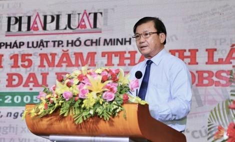 Kỷ niệm 15 năm thành lập Văn phòng đại diện Báo Pháp luật TP Hồ Chí Minh tại Cần Thơ