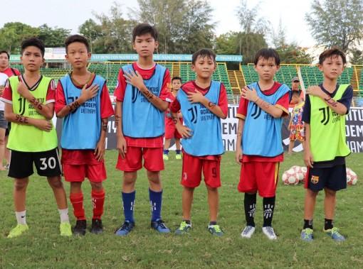 6 cầu thủ U11 vượt qua cuộc tuyển chọn tại Cần Thơ của Học viện Bóng đá Juventus Việt Nam